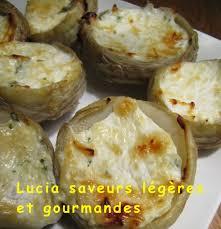 cuisiner coeur d artichaut fonds d artichauts farcis au fromage et aux herbes lucia saveurs