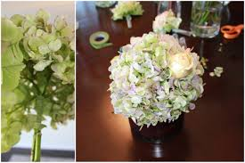 beautiful diy wedding centerpiece hydrangea roses callas