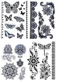 supreme temporary butterfly flower mandala designs