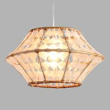 Capiz Light Pendant White Capiz And Rattan Samar Pendant Shade World Market
