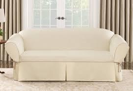 Sure Fit White Sofa Slipcover Canvas Sofa Slipcover Sofas