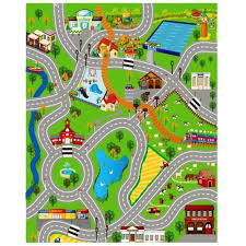 Kids Playroom Rug Car Play Mat Giant Road Play Rug For Kids Activities For