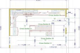 kitchen layout with island rustic wooden design elegant soft blue
