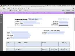 Free Auto Repair Invoice Template Excel Car Repair Invoice Pdf Rabitah