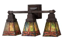Craftsman Bathroom Lighting 48036 Prairie Dragonfly Vanity Light