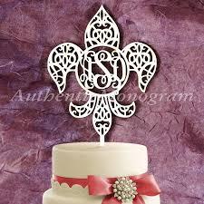 li a le occasion wooden fleur de li 3 letter vine cake topper wedding decor