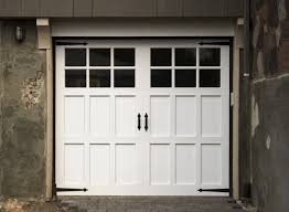 Design Ideas For Garage Door Makeover Fabulous S With Classic White Wooden Garage Door With Black Glass