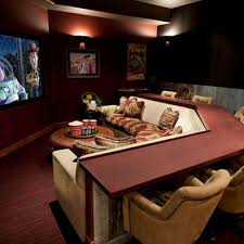 Media Game Room - 15 interesting media rooms and theaters with bars media room