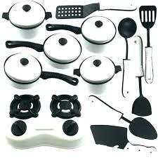 cuisine et ustensiles batterie cuisine enfant 22 pcs ensemble bricolage batterie de
