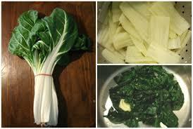 cuisiner le vert des blettes cuire à blanc des côtes de blettes et sauter le vert en images
