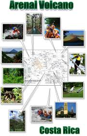 Street Map Of San Jose Costa Rica by Arenal Volcano U0026 La Fortuna Map Free Printable Download