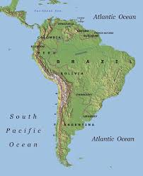 central america physical map treks in south america