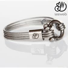 bracelet stainless steel images Seeweib nautical bracelets made of stainless steel sailing rope jpg
