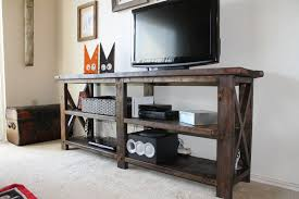 rustic x console table how to make rustic x console diy crafts handimania