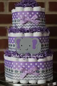 purple elephant baby shower decorations 3 tier purple and gray elephant cake purple gray elephant