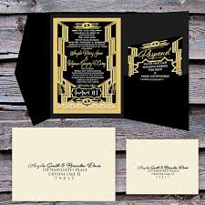 gatsby wedding invitations great gatsby wedding invitation and rsvp set