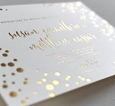 foil sted wedding invitations gold foil wedding invitations elegante press professional