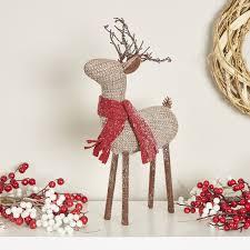 glittering reindeer decor reviews allmodern