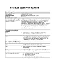best photos of position job description template free job