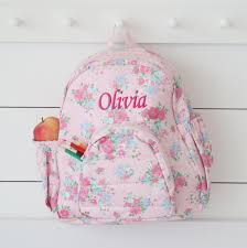 personalised ditsy print large backpack my 1st years