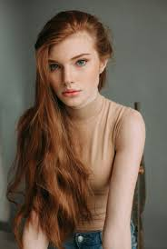 ginger redhead carrot beautiful hair color freckels