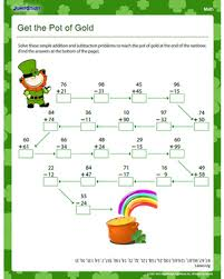 get the pot of gold u2013 free math worksheet for kids u2013 jumpstart