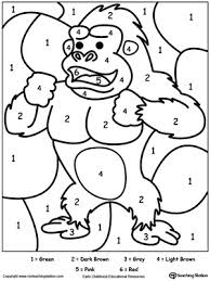 numbers coloring pages kindergarten early childhood color by number worksheets myteachingstation com