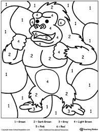 color by number gorilla myteachingstation com