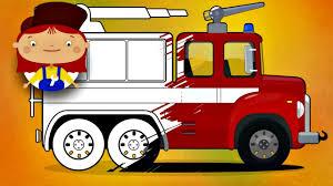 doctor mcwheelie paints a fire truck kids learning videos