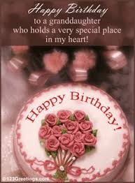to my lovely granddaughter happy birthday wishes card for a