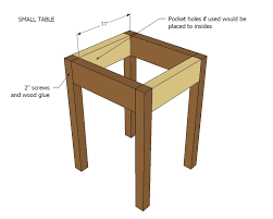 Free Small Wooden Table Plans by Ana White Preston Nesting Side Tables Diy Projects