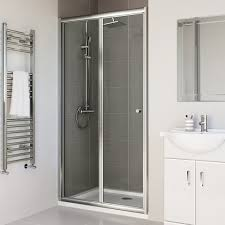 1000mm bi fold shower door 4mm thick glass soak com