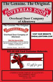 Overhead Door Allentown Overhead Doors Pa Ohdallentown