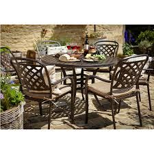 6 seater patio furniture set hartman berkeley round 6 seater set notcutts notcutts