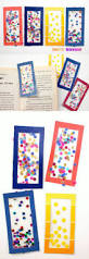 easy kids craft confetti diy bookmarks paint chips tissue