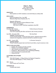 Reference Provided Upon Request Excellent Culinary Resume Samples To Help You Approved