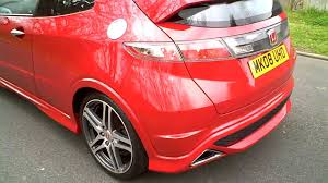 Honda Civic Type R Horsepower 2008 Honda Civic Type R Gt Hatchback Manual Milano Red Youtube