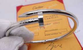ladies cartier bracelet nail style stainless steel replica