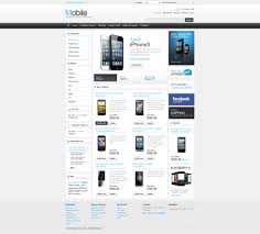 Site Map Template Website Template 43634 Mobile Shop Store Custom Website Template