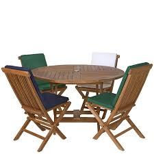 Teak Patio Furniture Sets - large round cushions for outdoor furniture