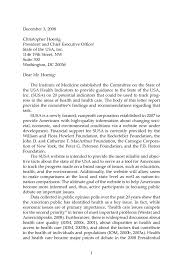 letter report state of the usa health indicators letter report