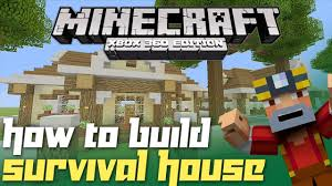 minecraft xbox 360 how to build a survival house part 2 youtube