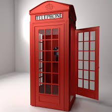 telephone booth phone booth 3d model cgtrader