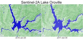 Oroville Ca Map Lake Oroville In January 2016 Vs 2017 Séries Temporelles