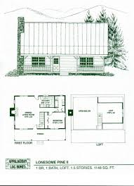 Building Plans For Cabins Log Home Floor Plans Cabin Kits Appalachian Homes One Level Plan