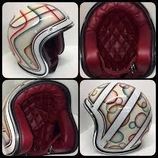 Diamond Tuck Interior Helmets For Sale Hell Mutt U0027s Custom Motorcycle U0026 Snowmobile
