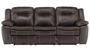Extra Wide Leather Chair Brown Leather Power Reclining Sofa Schneiderman U0027s Furniture