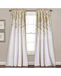 Yellow And Grey Window Curtains New Savings On Lush Decor Weeping Flowers Room Darkening Window