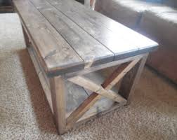 Rustic Coffee Tables Sale Reclaimed White Rustic Coffee Table With Brown Top