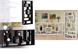 amazon com contemporary modern display shelves cabinet unit